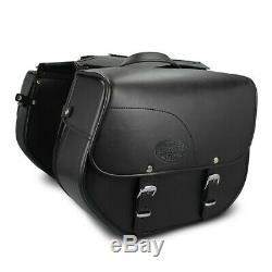 Sacoche Cavalière Kentucky pour Harley Davidson Softail Slim (FLS) noir