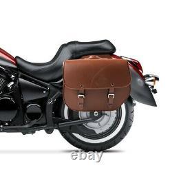Sacoche Cavalière pour Harley Davidson Softail Slim Kentucky 30l marron pair