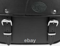 Sacoche Lateral Kentucky pour Harley Davidson Softail Custom (FXSTC) noir