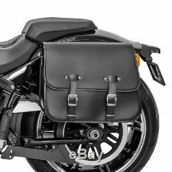 Sacoche Lateral et support pour Harley Davidson Softail 1988-2017 Laredo 20l
