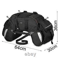 Sacoche de selle WP35 pour Harley Davidson Softail Slim / Sport Glide noir