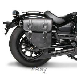 Sacoches Cavalières p. Harley Softail Slim FLS/ FLSL/ Street Bob Texas noir