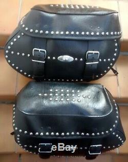 Sacoches Cuir État Impeccable Harley Davidson Softail Héritage Twin Cam
