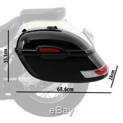 Sacoches rigides Delaware 33l pour Harley Davidson Softail Blackline, Custom
