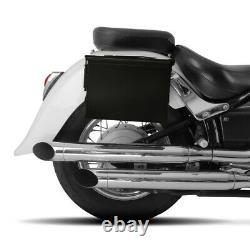 Set de Sacoches laterales PA108 pour Harley Davidson Softail Custom (FXSTC) noir