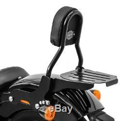 Sissy Bar CL + porte bagages pour Harley-Davidson Softail Slim 18-19 noir