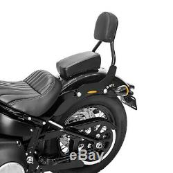 Sissy Bar CL pour Harley Davidson Softail Street Bob 18-19 noir