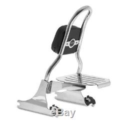 Sissy Bar CSM + porte bagages pour Harley-Davidson Softail 07-17 inox
