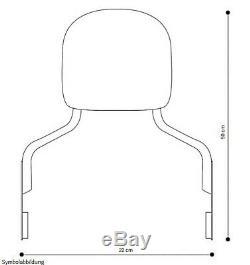 Sissy Bar + porte bagages pour Harley Davidson Softail 1988-2006 chrome