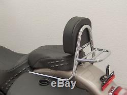 Sissy bar chrome avec porte bagage Harley Davidson Softail Deluxe type FLDE 2018