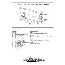Solo Siège Kit de Montage Pour Wlc Et Kr Séance Harley Davidson Softail 00- 07