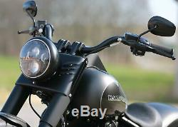 Thunderbike Stripe Micro LED Clignotants Noir, Harley Softail à partir 2015