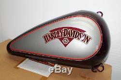 Usinage Custom Harley FLSTC Heritage Fatboy Softail Droit Réservoir de Gaz Mauve