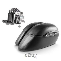 Valises rigides 33l pour Harley Davidson Softail Custom/Deluxe/Deuce/Springer