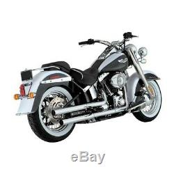 Vance & Hines Straightshots Slip-Ons Chrome, pour Harley Davidson Softail 05