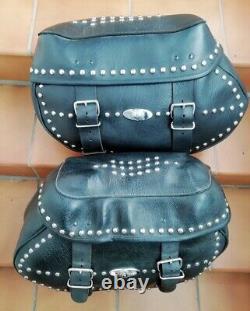 Véritables Sacoches Cuir Harley Davidson Softail Héritage Twin Cam